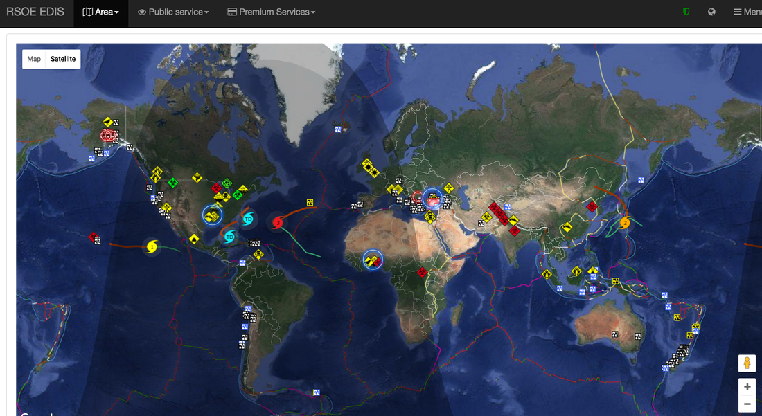 Live Global Hazards And Disasters THE GEOGRAPHER ONLINE - World satellite map live online